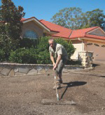 Using a Cultivator to Work the Top Soil