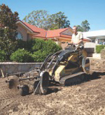 Excavating Soil for Laying Turf