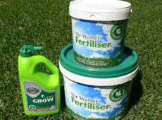 Fertilizing Greener Lawn