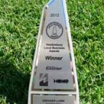 Our trophy for winning Hawkesbury Local Business Awards 2012