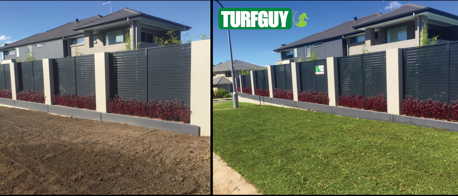 Before and After - Turf Installation by Greener Lawn