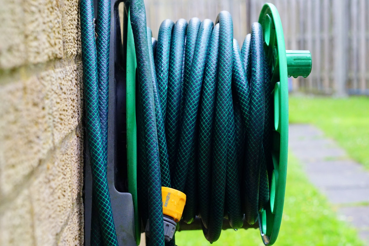 Water pipe roll in lawn